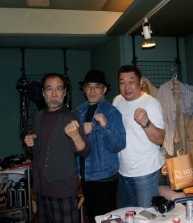 3人でポーズ(クニ、小坂&シャイアン)